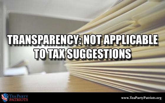 Transparency Tax Thumb