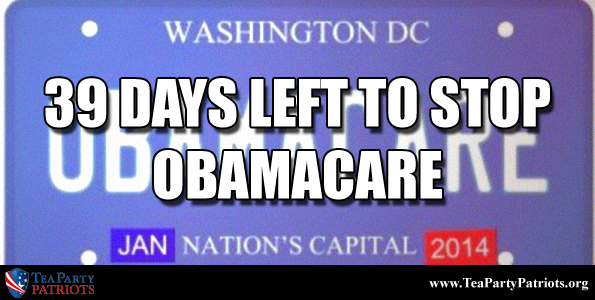 39 Days to Stop Obamacare Thumb