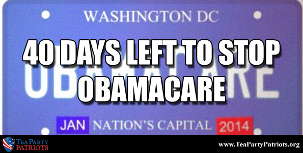 40 Days to Stop Obamacare Thumb